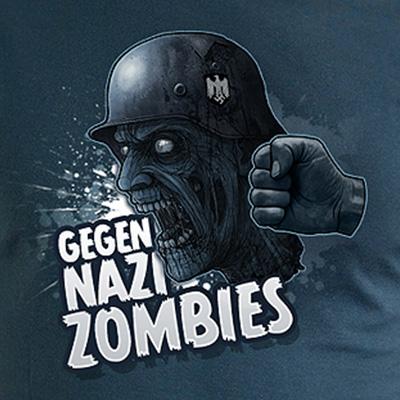 Gegen Nazi Zombies Illustration T-Shirt