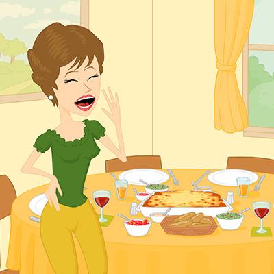 Come A Casa Dinnertime Pancarte