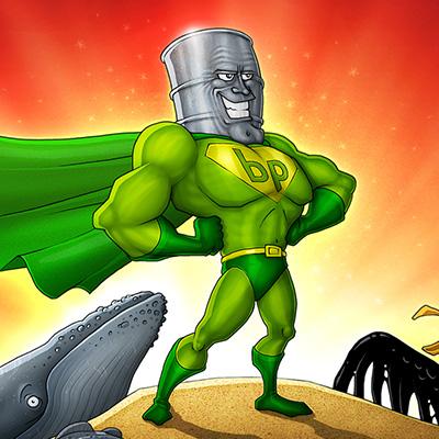 BP Oil Man Illustration Final Color