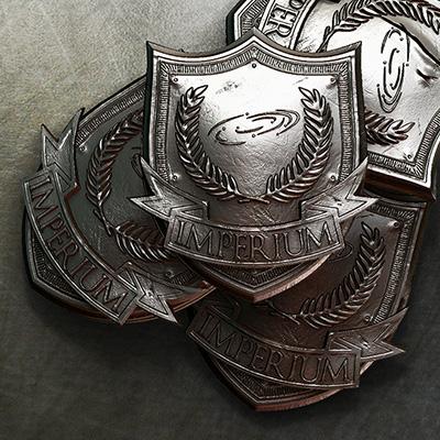 Imperium Badge 3D Print Composition