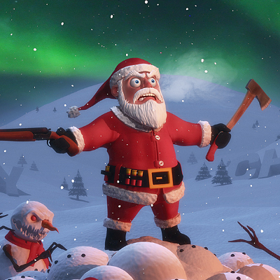 Christmas Card 3D Illustration Final Render