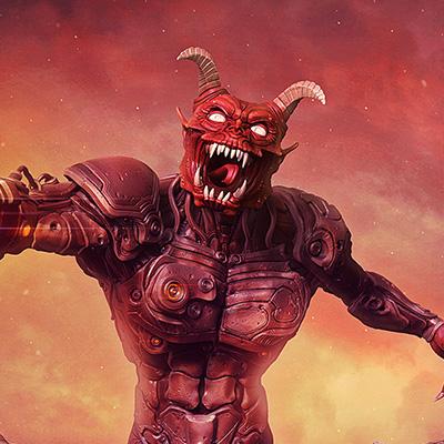 Doom 3D Illustration Final Render