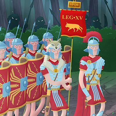 Romans Teutoburg Forest Animation
